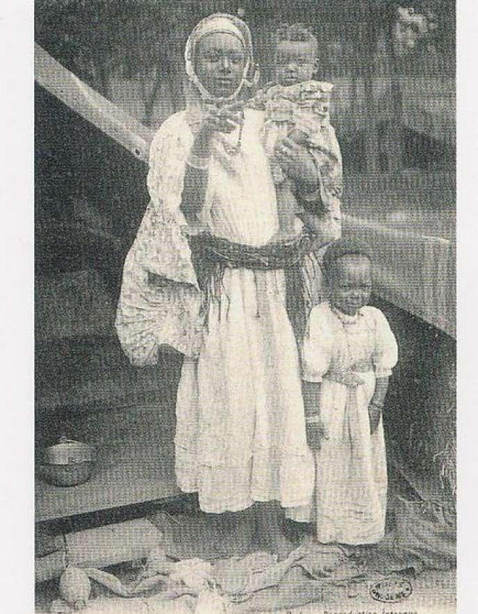 Carte postale de femme