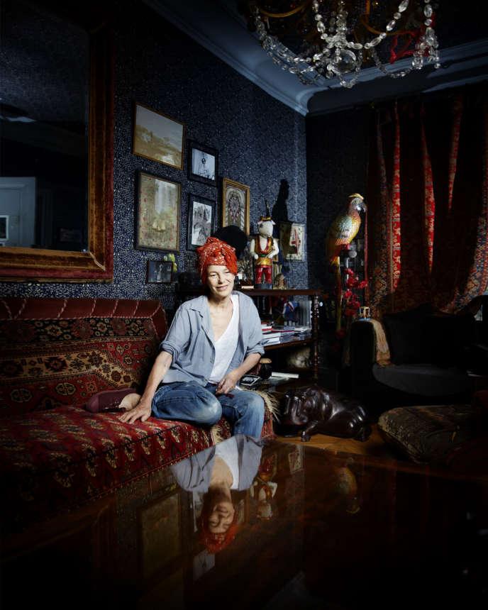 Jane Birkin chez elle, à Paris, en juillet 2013.