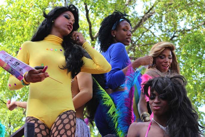 Lors du défilé LGBT à Saint-Domingue, en 2012.