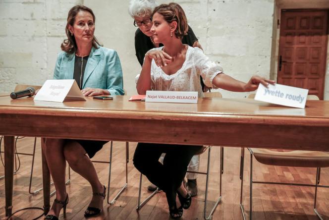 Ségolène Royal, Yvette Roudy et Najat Vallaud-Belkacem à la Rochelle, le 22 août.
