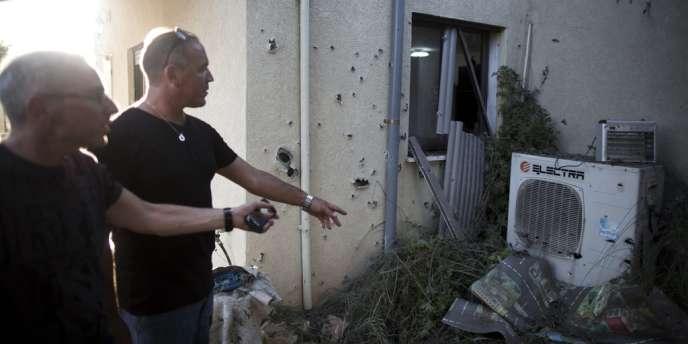 Une roquette tirée du Liban a touché le kibboutz de Gesher Haziv, dans le nord d'Israël, le 22 août.