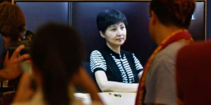 Diffusion vidéo, vendredi 23 août, du témoignage de Gu Kailai, l'épouse de Bo Xilai, condamnée en août 2012 pour le meurtre du Britannique Neil Heywood.