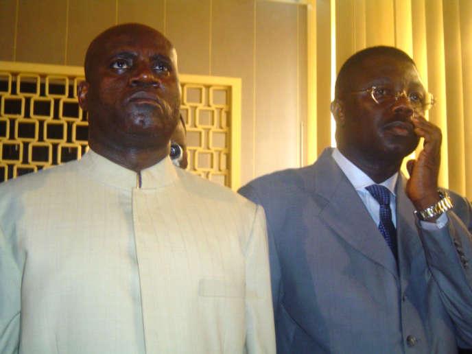 Le général congolais Norbert Dabira (à droite) a été arrêté près de Paris, le 22 août.