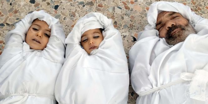 Des images diffusées par l'opposition syrienne des victimes de l'attaque à l'arme chimique du mercredi 21 août.