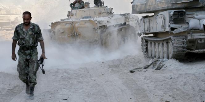 L'armée syrienne dans le quartier de Jobar à Damas.