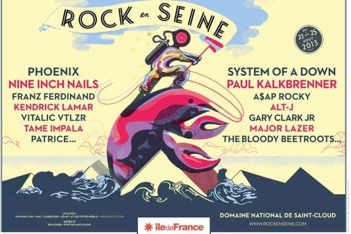 L'affiche de Rock en Seine 2013.