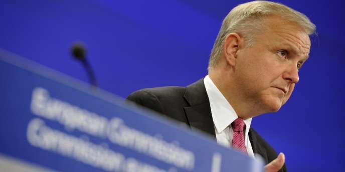 Le commissaire aux affaires économiques et monétaires et euro de la Commission européenne, Olli Rehn, le 5 juin à Bruxelles.