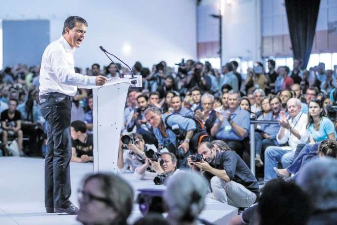 Lors de son intervention à l'université d'été du Parti socialiste, le 24août, à LaRochelle.