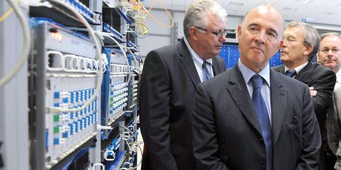 Pierre Moscovici à Lannion, le 26 août.