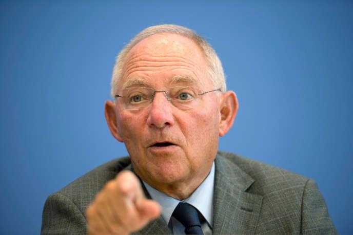 Wolfgang Schäuble, à Berlin, le 25 août.