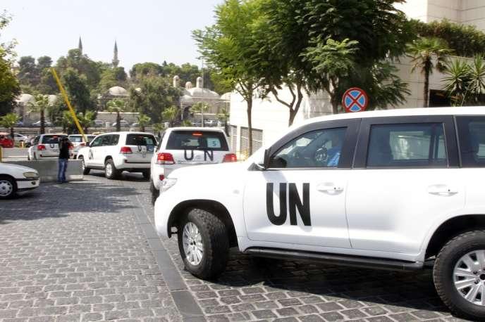 Les experts internationaux, arrivés le 18 août à Damas, ne pourront que déterminer si une attaque chimique a été menée, sans en désigner l'auteur.