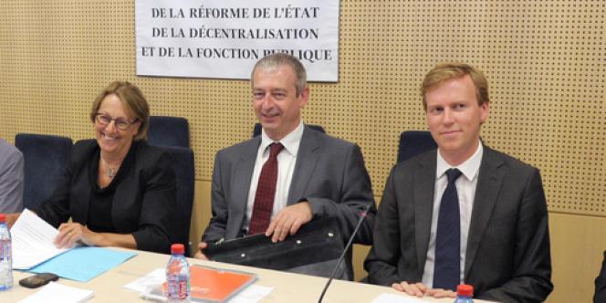 Harold Huwart, ici à droite en septembre 2012, était depuis juillet 2012 conseiller au cabinet de Marylise Lebranchu, ministre de la réforme de l'Etat, de la décentralisation et de la fonction publique.
