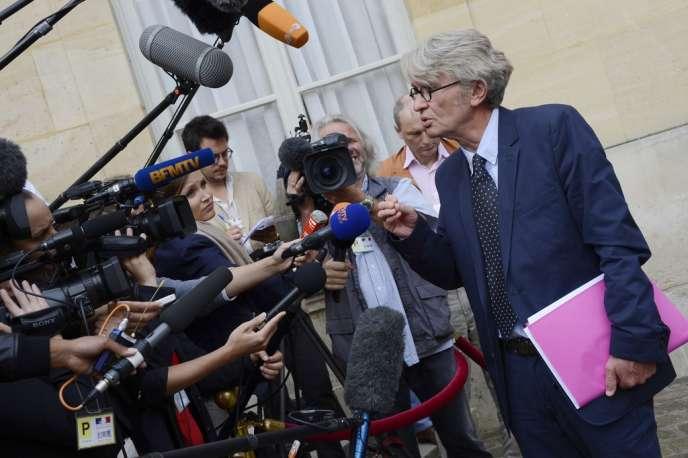 Le secrétaire général de Force ouvrière, Jean-Claude Mailly, le 27 août à Matignon.