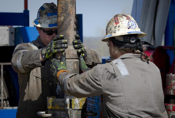 Extraction de gaz de schiste à Waynesburg (Pennsylvanie), en 2012.