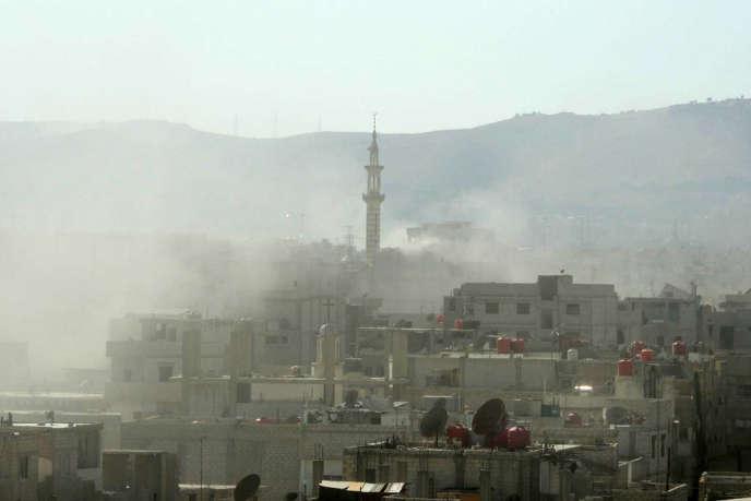 Attaque chimique dans le quartier de la Ghouta, le 21 août 2013 à Damas.