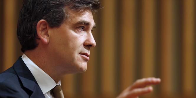 Arnaud Montebourg, le 2 juillet 2012 au ministère de l'économie et des finances, à Paris.