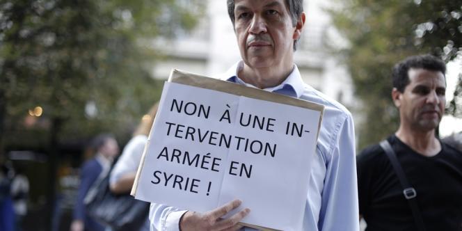 Une manifestation contre l'intervention en Syrie s'est tenue jeudi 29 août, à Paris.