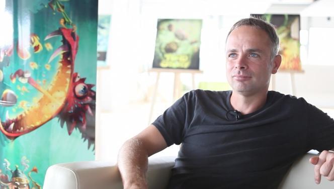 Michel Ancel en 2013, en promotion pour la sortie de« Rayman Legends».