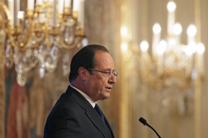 François Hollande lors de la conférence des ambassadeurs, le 27 août à l'Elysée.