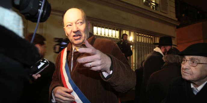 Didier Paillard, maire PC de Saint-Denis (Seine-Saint-Denis), en janvier 2009.