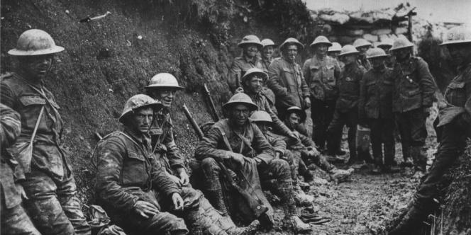 Un bataillon britannique pendant la première guerre mondiale.