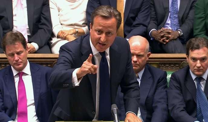 David Cameron, le 29 août à la Chambre des communes.