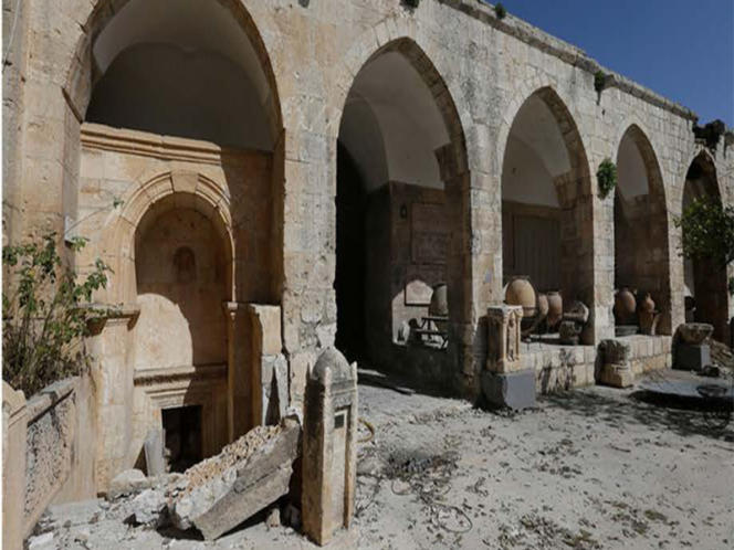 La mosquée Al-Omari à Daraa (Syrie).
