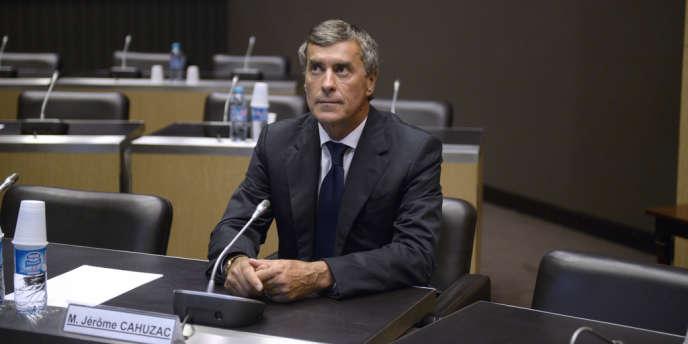 L'ancien ministre du budget Jérôme Cahuzac lors de son audition à l'Assemblée nationale, le 23 juillet.