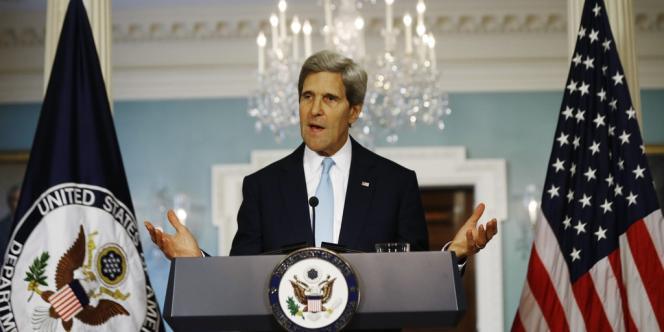 Conférence de presse de John Kerry, le 30 août à Washington.