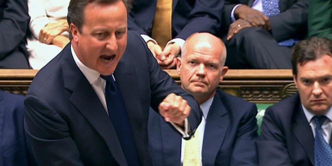 David Cameron s'adresse à la Chambre des communes, jeudi 29 août, à Londres, durant le débat sur l'intervention en Syrie.