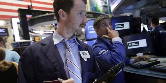 La bourse de New York, en août 2013.