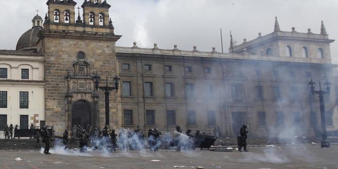 Dans le centre-ville de Bogota, le 29 août.