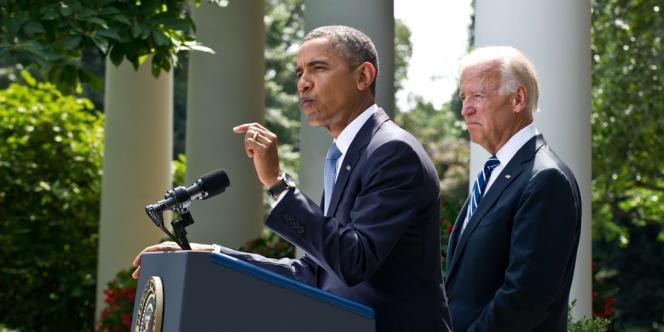 Barack Obama durant son adresse solennelle devant la Maison blanche, le 31 août.