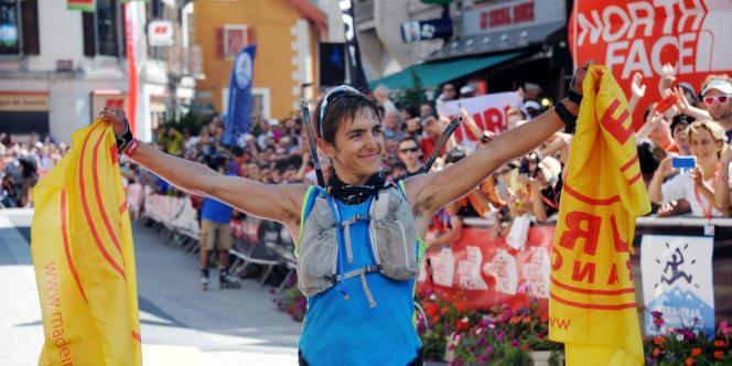 Xavier Thévenard est arrivé vainqueur de l'Ultra-Trail du mont Blanc en 20 heures 34 minutes et 57 secondes.
