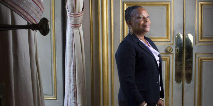 Christiane Taubira au ministère de la justice, le 30 août.