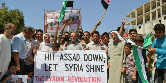 Manifestation de l'opposition à Kafr Nabil, dans la province d'Idlib, le 30 août.