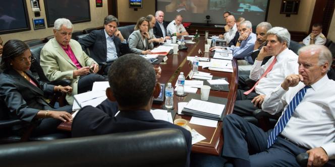 Barack Obama et les hauts responsables à la sécurité dans la
