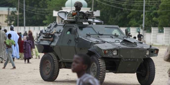 Un véhicule de l'armée nigériane à Maiduguri.