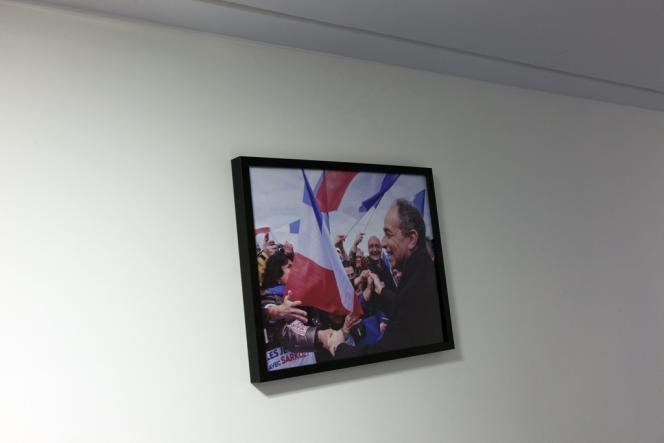 Dans le bureau de Jean-François Copé, au siège de l'UMP, à Paris, le 1er septembre 2013.