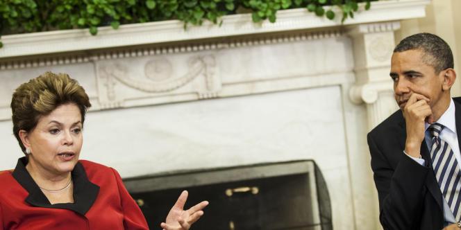 La présidente du Brésil, Dilma Rousseff, et son homologue américain, Barack Obama, le 9 avril dernier.