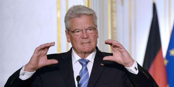 Le président allemand, Joachim Gauck, lors d'une conférence de presse à l'Elysée, le 3 septembre 2013.