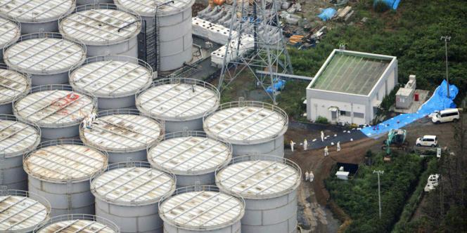 Les stocks d'eau contaminée à Fukushima.