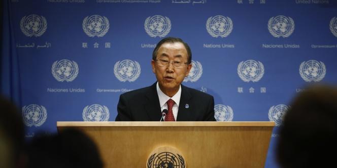 Le secrétaire général de l'ONU, Ban Ki-moon, le 3 septembre à New York.