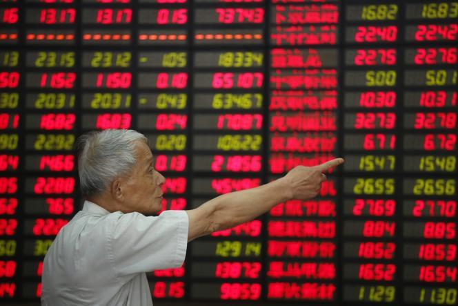 A la Bourse de Shanghaï, le 12 août.