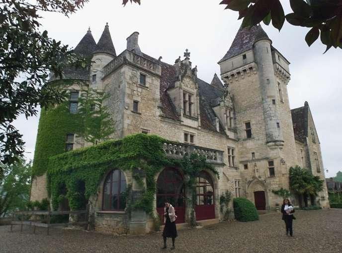 Le château des Milandes, ancienne propriété de Joséphine Baker, à Castelnaud-la-Chapelle en avril 2000.