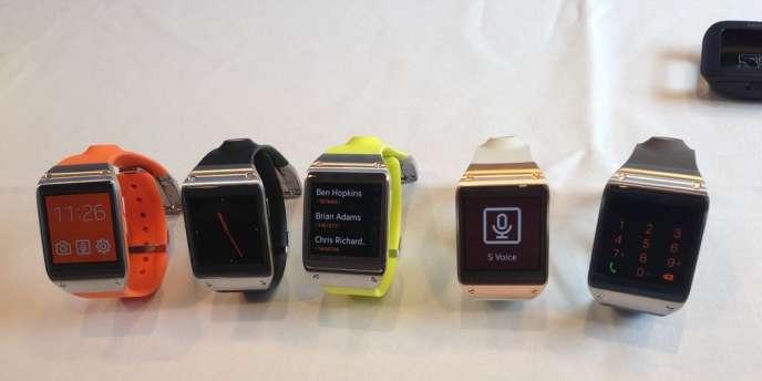 Les modèles de montres connectées de Samsung.