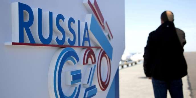 Le sommet du G20,  à Saint-Pétersbourg, en Russie.