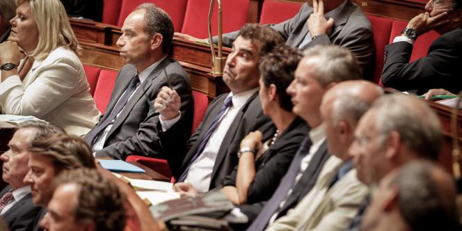 Jean-François Copé et Christian Jacob, mercredi 4 septembre à l'Assemblée.