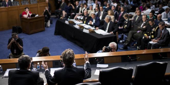 La commission des affaires étrangères du Sénat américain est parvenue, mardi 3 septembre, à un accord sur un projet d'autorisation de l'usage de la force armée en Syrie.