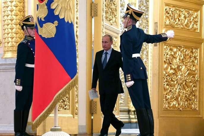 Le président russe, Vladimir Poutine, au Kremlin, à Moscou, le 4 septembre.